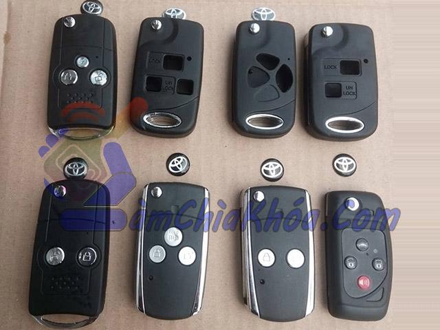 Vỏ chìa khóa gập Toyota Innova, Fortuner, Lexus, Camry