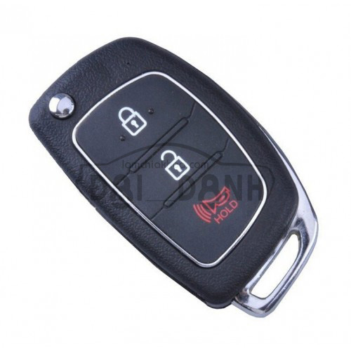 Chìa khóa Hyundai Accent Blue Santafe chìa gập 3 nút lớn