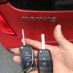Chìa khóa Kia Morning mẫu gập bền giá siêu rẻ mã giảm giá Morcnb