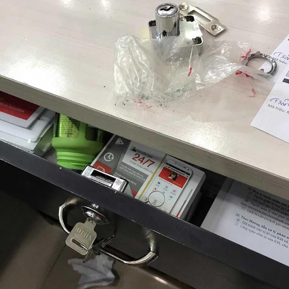 Thay khóa tủ văn phòng khóa ngăn kéo tủ đựng hồ sơ