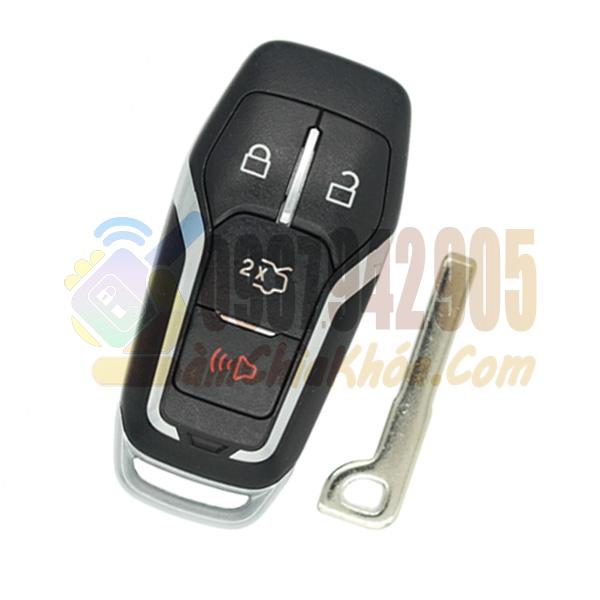 Chìa khóa thông minh xe Ford Explorer 4 nút chính hãng