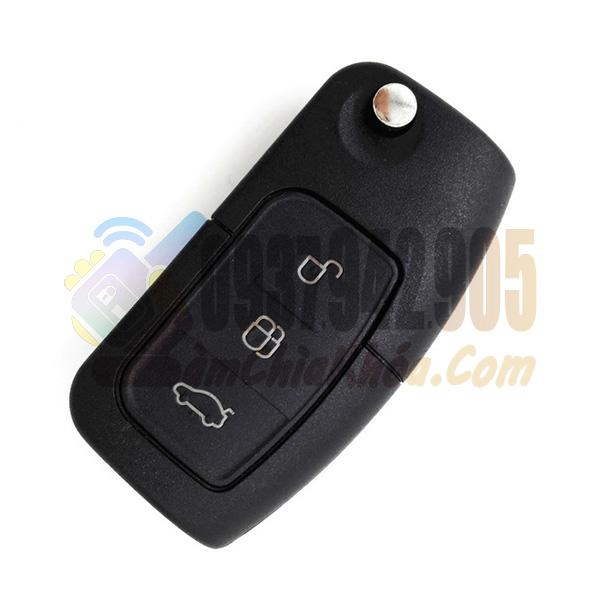 Chìa khóa xe Ford Focus, Ford Fiesta gập 3 nút chính hãng