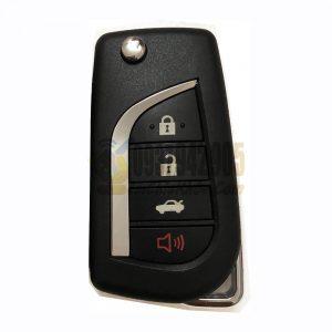 Chìa khóa Toyota gập 4 nút chính hãng dùng tốt cho Camry Altis